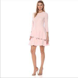NWOT Eliza J Pale Baby Pink Ruffle Waisted Dress